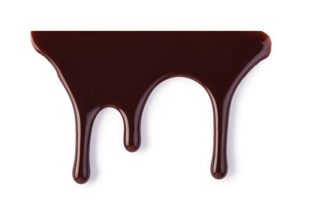 chocolate streams isolated on a white Stock Photo