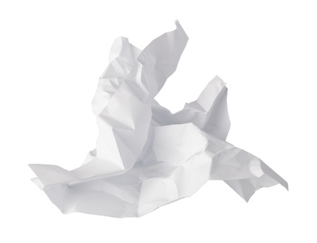 rumple: Crumpled paper isolated on a white