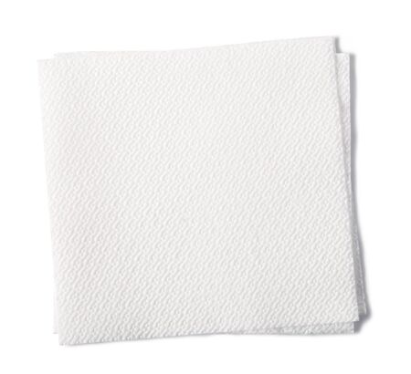 serviette: paper napkin isolated on white background Stock Photo