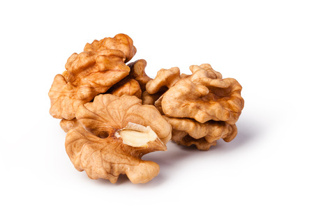 walnuts isolated on white background Banco de Imagens