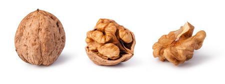 walnut: walnuts isolated on white background Stock Photo