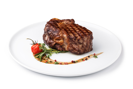 mignon: grilled fillet steak on an plate Stock Photo