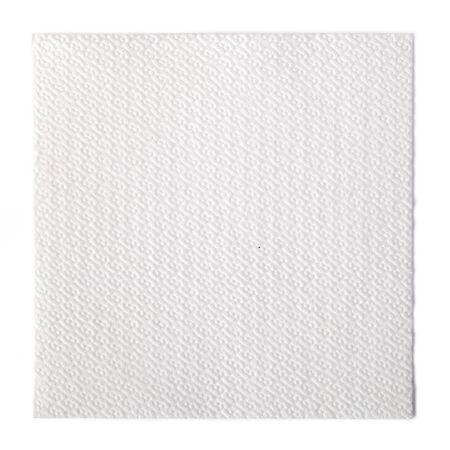 Papierserviette auf weißem Hintergrund