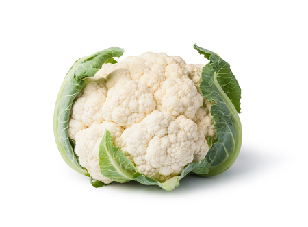 Cauliflower isolated on white background Standard-Bild