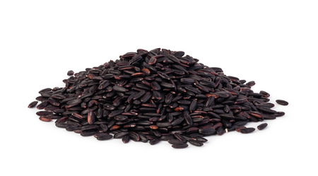 black rice isolated on a white background