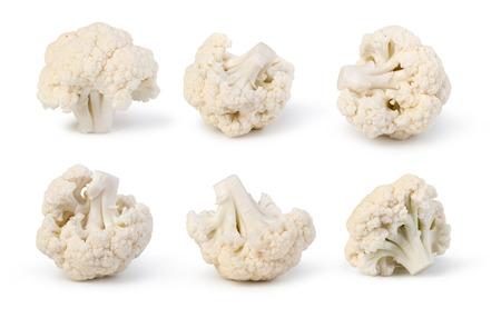 Cauliflower isolated on white background Banco de Imagens
