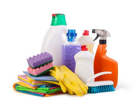 gospodarstwo domowe: Czyszczenie przedmiotów na białym tle