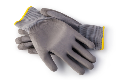 protective: Protective gloves isolated on white