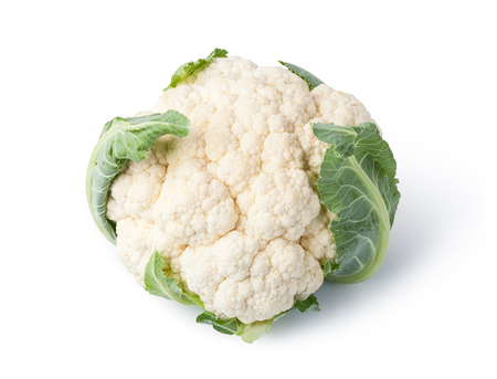 Cauliflower isolated on white background 版權商用圖片