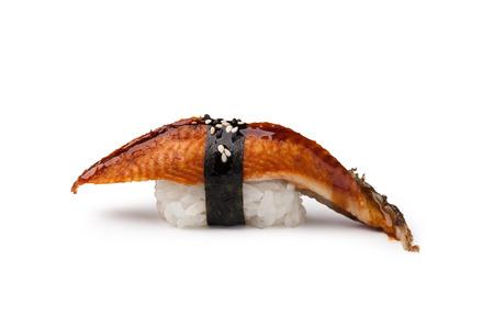 susi: Unagi sushi on a white background Stock Photo
