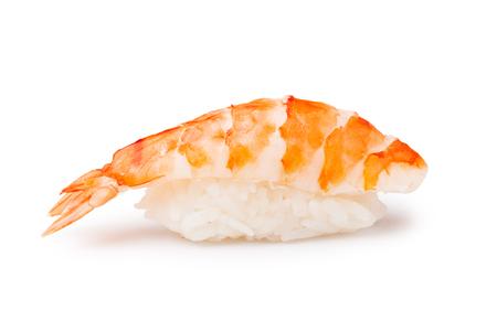 nigiri: Sushi - ama Ebi Nigiri on a white