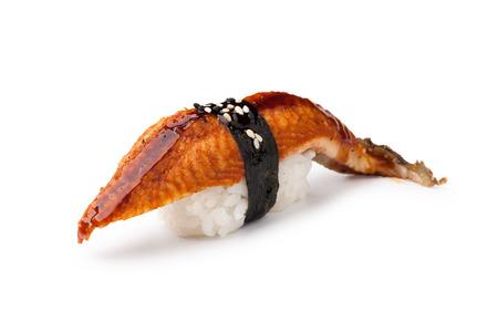 Unagi sushi on a white background Stock Photo