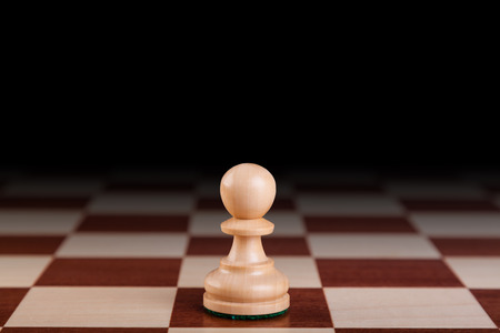 vanquish: wooden chess pieces Stock Photo