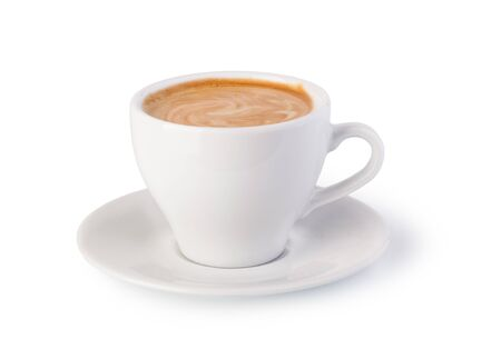objec: cup of coffee on white background