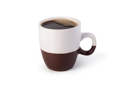 白い背景の上のコーヒー カップ