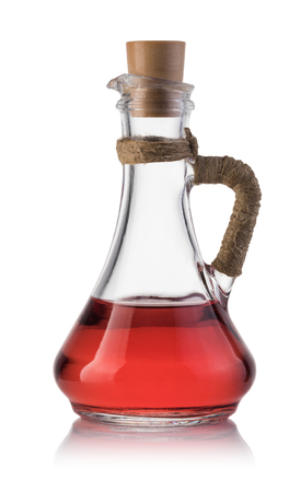 vinegar isolated on the white background