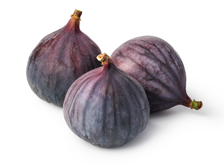 fresh figs on white background