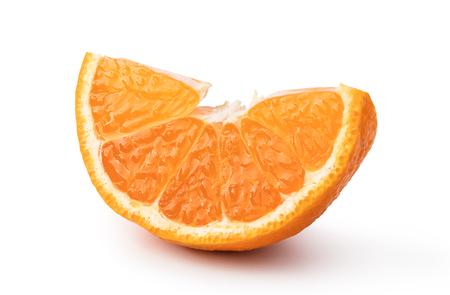 Ripe mandarin isolated on white background Фото со стока