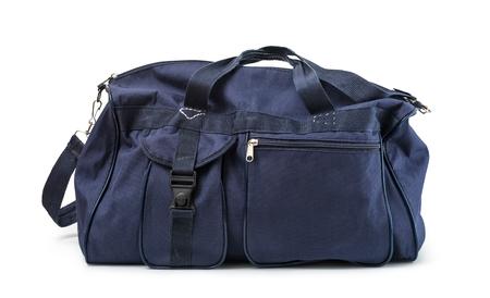 travel bag on a white background Foto de archivo
