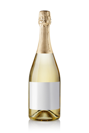 champagne bottle. isolated on white background