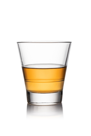 iGlass of whisky isolated white background