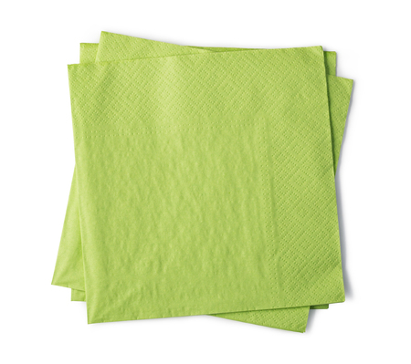 paper napkin isolated on white background Stock Photo - 117503427