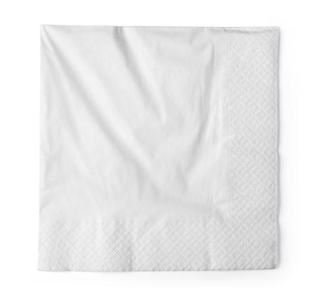paper napkin isolated on white background Stock Photo
