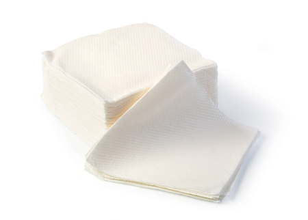 paper napkin isolated on white background Foto de archivo