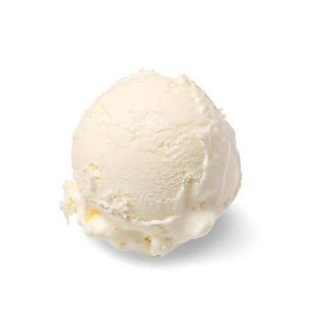 pallina di gelato isolata su sfondo bianco