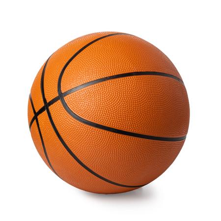 pallone da basket isolato su bianco Archivio Fotografico