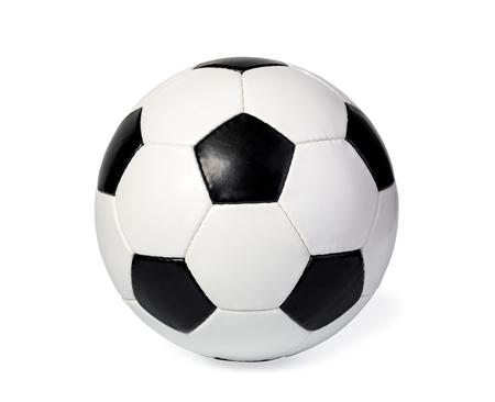 Fußballball, isoliert auf weiß