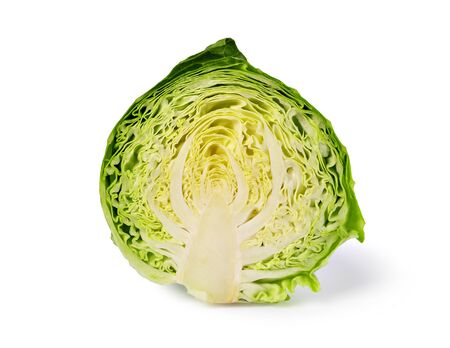 green cabbage isolated on white background Zdjęcie Seryjne