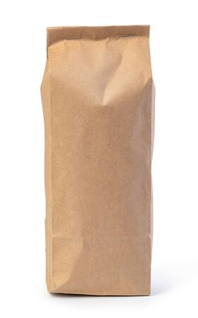 paper bag isolated on a white background 스톡 콘텐츠
