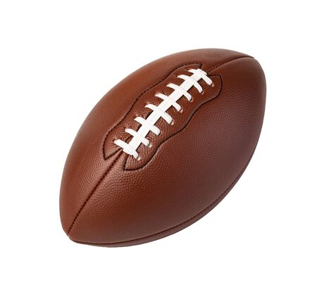 Leather American football ball isolated on white background Stockfoto - 128845985