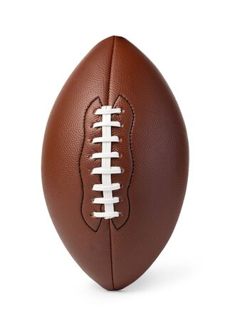 Leather American football ball isolated on white background Stockfoto - 128846037