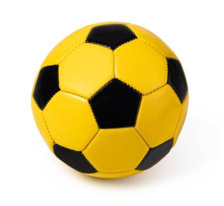 football ball, isolated on white Stockfoto - 128846338
