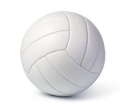 在白色背景隔绝的排球球