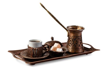 Turkish Coffee isolated on a White background Stock fotó