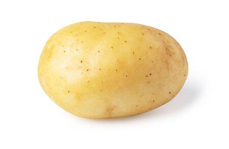 Young potato isolated on white background Stockfoto