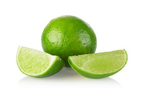 lime citrus fruit isolated on white background Stock Photo
