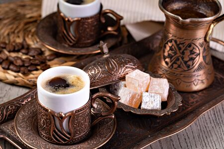 Turkish Coffee on a table