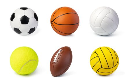Sport balls set isolated on white