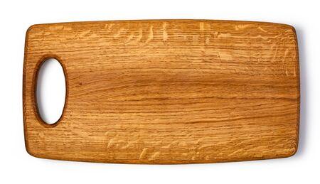 Holzschneidebrett isoliert auf weiss Standard-Bild