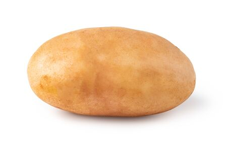 Young potato isolated on white background 写真素材