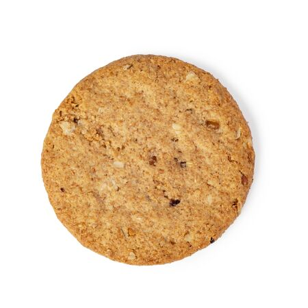 Oatmeal chip cookie isolated on white background