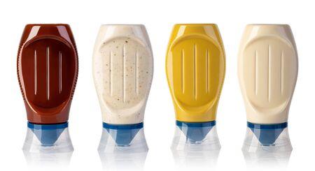 sauce bottle isolated on white background Stock Photo