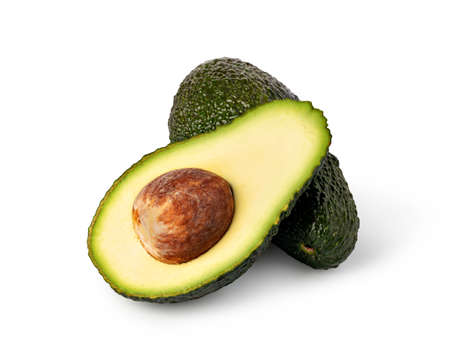 avocado isolated on white background Фото со стока