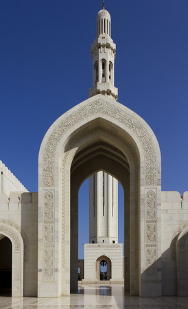 Oct.19. The Sultan Qaboos Grand Mosque is the main Mosque in the Sultanate of Oman. Located in Muscatm the Oman s capital, The Mosque is built from 300,000 tonnes of Indian sandstone. photo