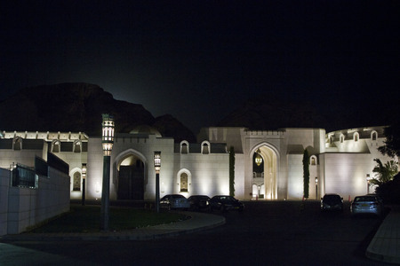 muttrah: The Al Alam Palace is the ceremonial palace of His Majesty Sultan Qaboos of Oman located in Muscat.The Palace is used for official functions and receiving distinguished visitors