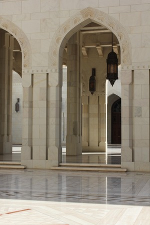 tonnes: Oct.19. The Sultan Qaboos Grand Mosque is the main Mosque in the Sultanate of Oman. Located in Muscatm the Oman s capital, The Mosque is built from 300,000 tonnes of Indian sandstone. Stock Photo